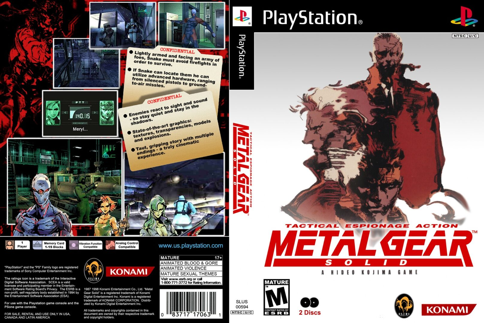 psx metal gear solid cover